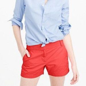 "J. Crew 4"" Chino Shorts in Red"
